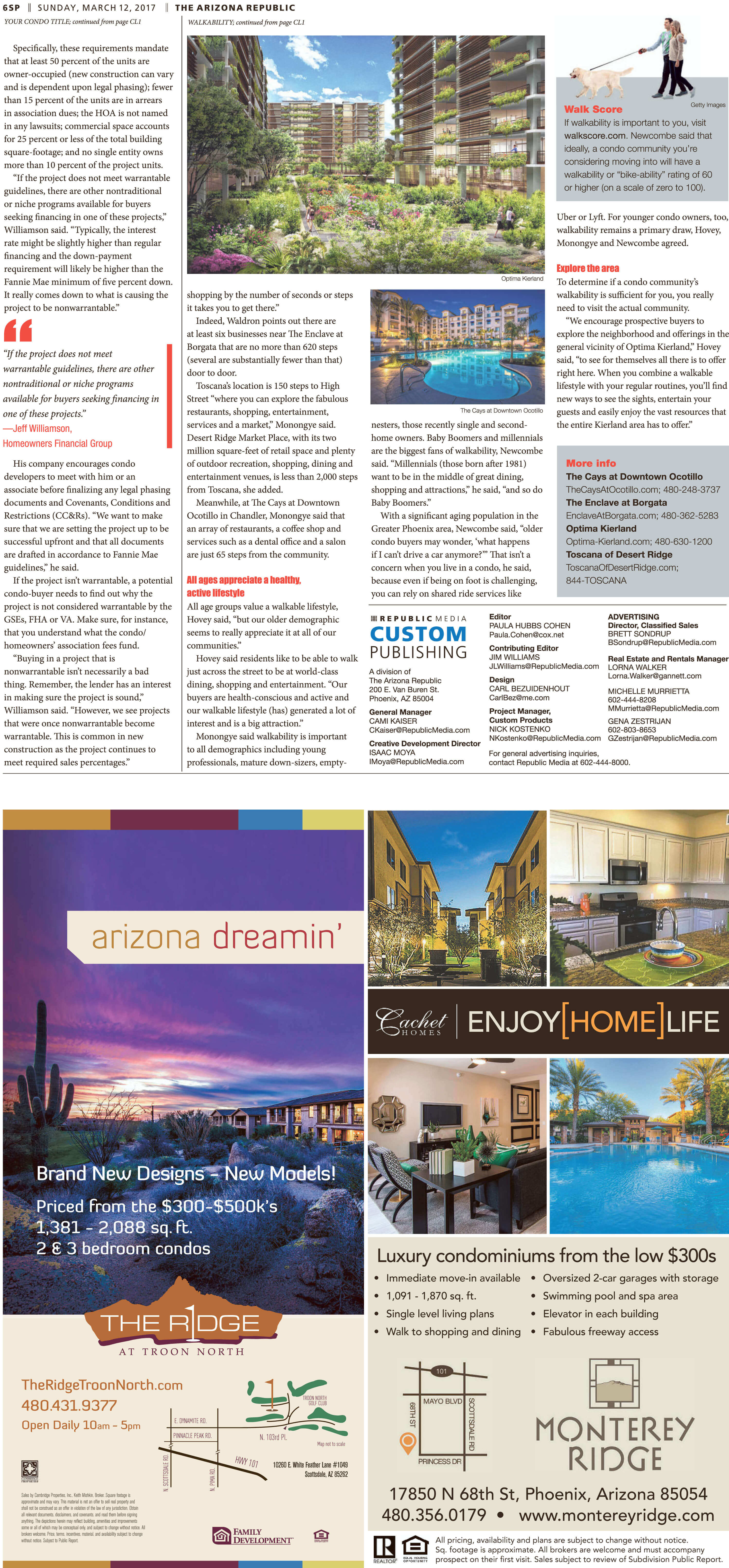 Toscana of Desert Ridge article