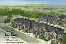 Luxury condos and resorts - picture of The Landings neighborhood in the city of Calgary