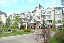 Senior living complex - picture of exterior building of The Manor Village
