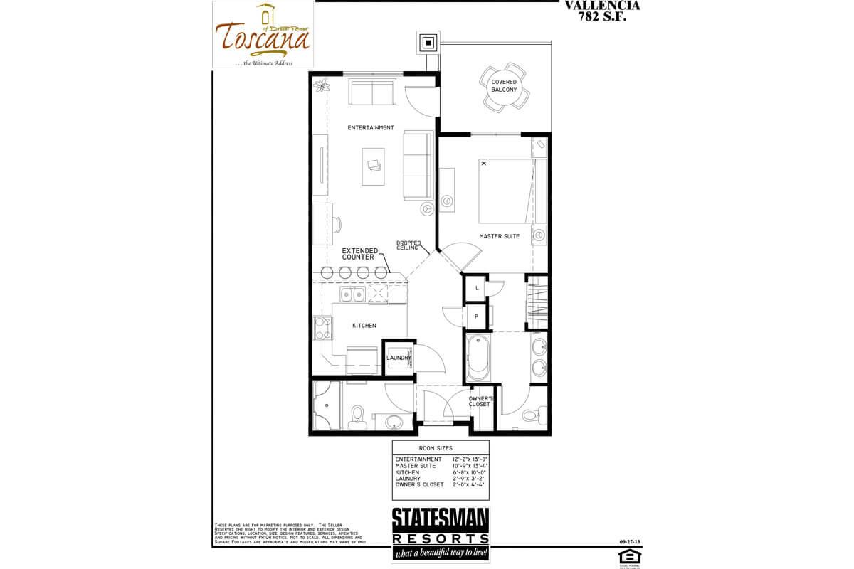1 Bedroom Condo Scottsdale Vallencia Toscana Desert Ridge