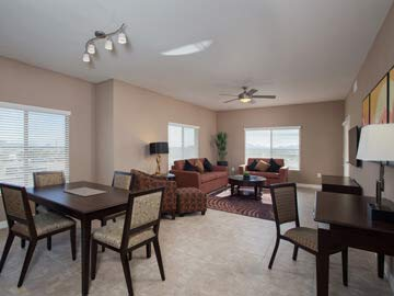 Condos in Scottsdale AZ - picture of a condo living room at Toscana of Desert Ridge