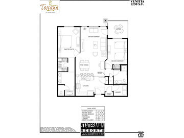 Floor plan of the Venitia Condo in Phoenix at Toscana of Desert Ridge