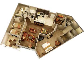 Condos for sale in Phoenix  - picture of the athena condo floorplan