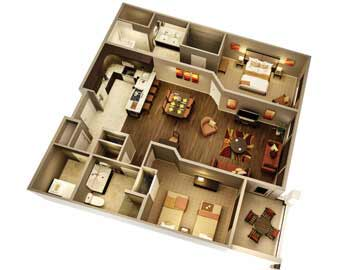 Luxury condos in Phonix floor plan of the venitia