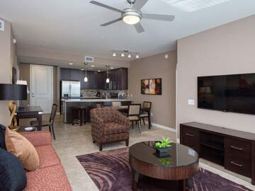 Phoenix Condos - picture of a luxury condo living room at the Toscana of Desert Ridge