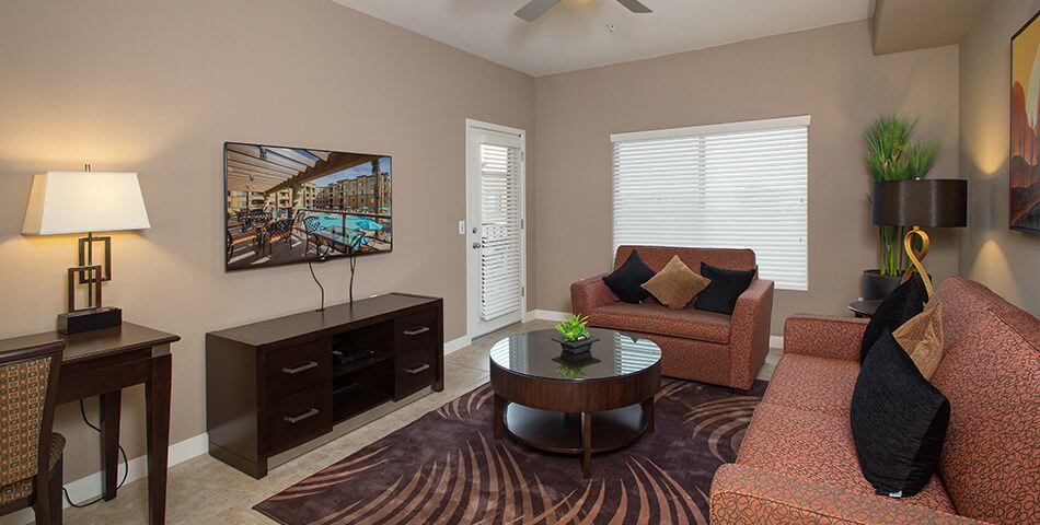 living room picture of a condo for sale in scottsdale at the Toscana of Desert Ridge